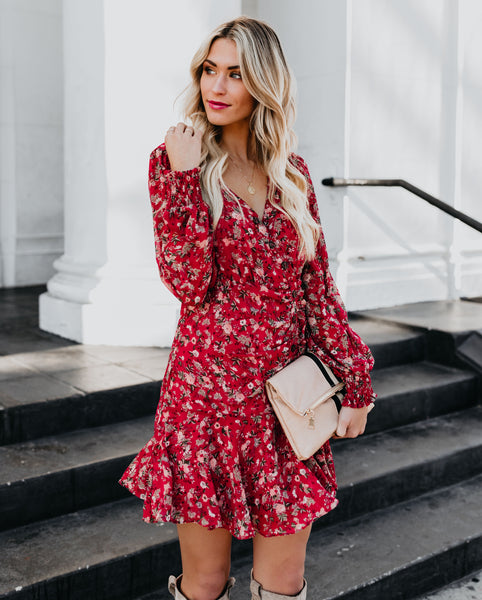 Bon Appetit Floral Ruffle Dress