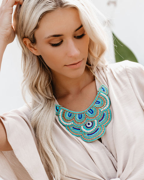 Boracay Beaded Statement Necklace- FINAL SALE