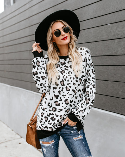 Born To Be Wild Leopard Knit Top