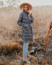 Boulder Pocketed Plaid Coat view 8