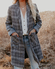 Boulder Pocketed Plaid Coat view 9