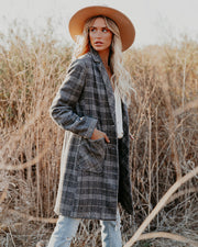 Boulder Pocketed Plaid Coat view 7