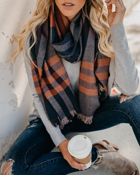 Bountiful Plaid Scarf