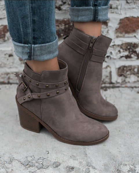 Bandit Studded Bootie - Grey