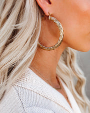 Bracha - Milan Large Hoops view 1