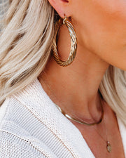 Bracha - Milan Large Hoops view 3