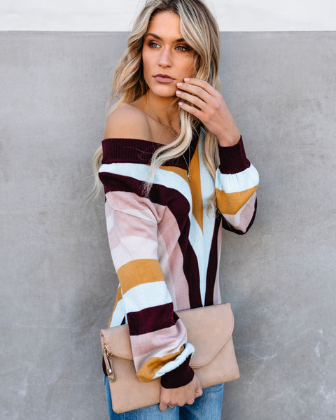 Brady Bunch Retro Striped Sweater