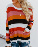Brady Striped Pocketed Pullover Sweater