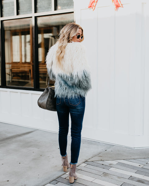 Breakaway Ombre Pocketed Shaggy Jacket  - FINAL SALE