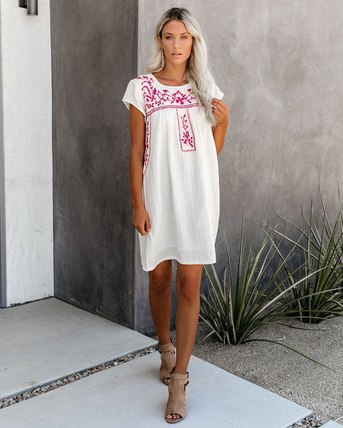 Breathtaking Cotton Embroidered Babydoll Dress - FINAL SALE