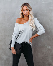 Breckenridge Thermal Contrast Top - Heather Grey