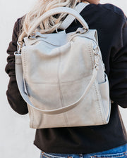 Brette Convertible Backpack - Grey view 4