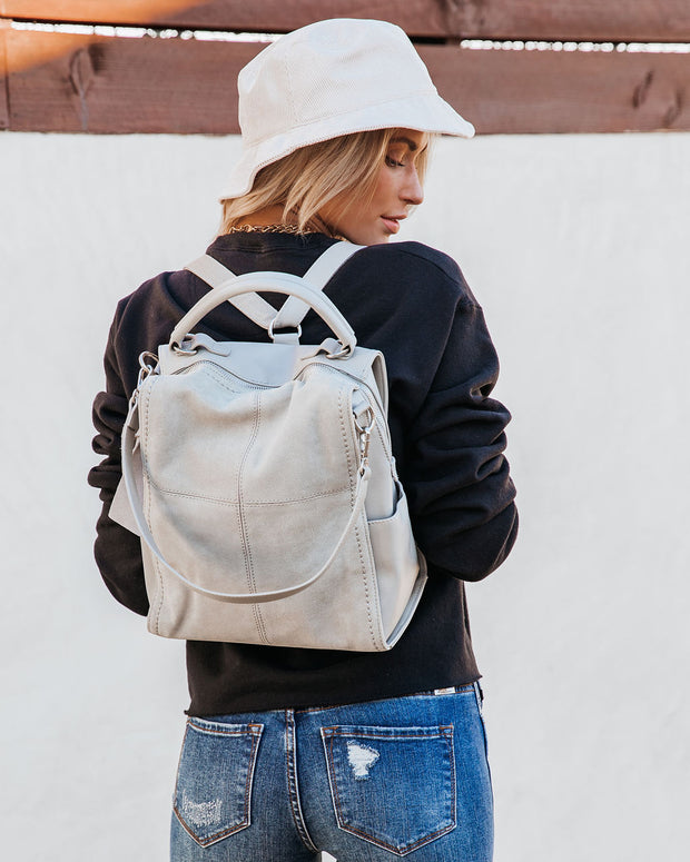 Brette Convertible Backpack - Grey view 1