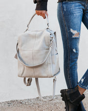 Brette Convertible Backpack - Grey view 3