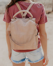 Brette Convertible Backpack - Natural view 3