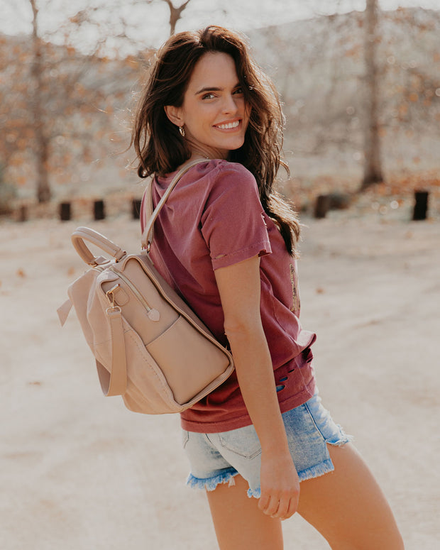 Brette Convertible Backpack - Natural view 6