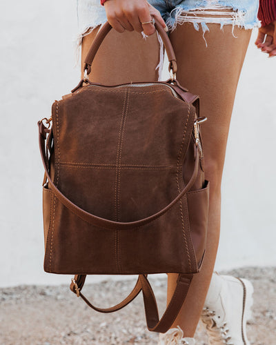 Brette Convertible Backpack - Tan