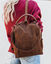 Brette Convertible Backpack - Tan view 1
