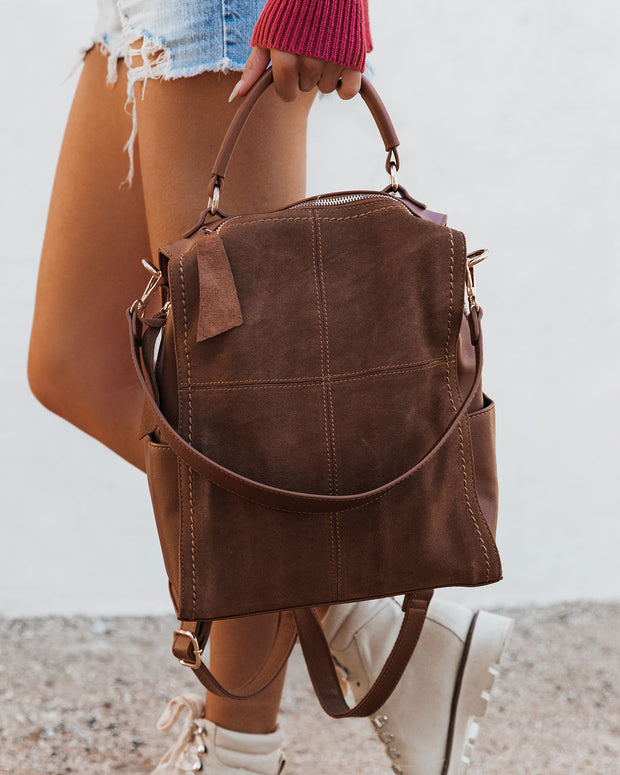 Brette Convertible Backpack - Tan view 5