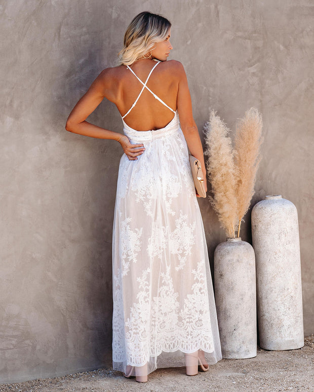 Bride To Be Lace Maxi Dress