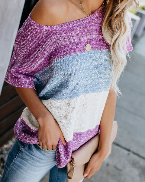 Brilliant Striped Knit Top