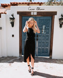 Brinn Knot Midi Dress - Black