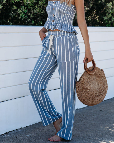 Brisbane Cotton Pocketed Striped Pants