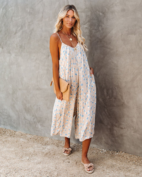 Brushstrokes Pocketed Jumpsuit