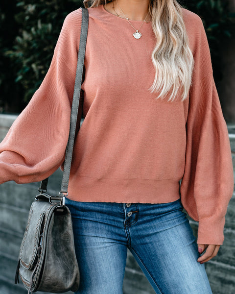 Bungalow Balloon Sleeve Sweater - Blush - FINAL SALE