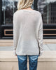 But First Coffee Knit Sweater - Taupe