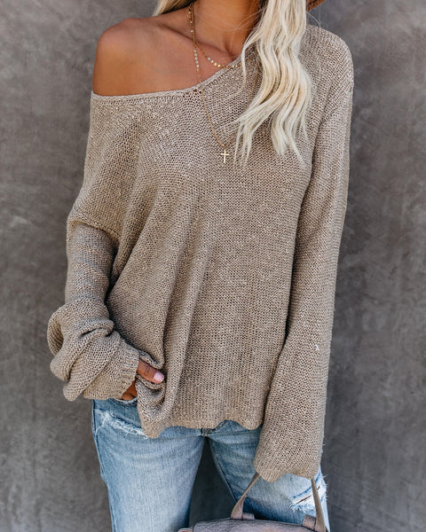 PREORDER - Café All Day Knit Sweater