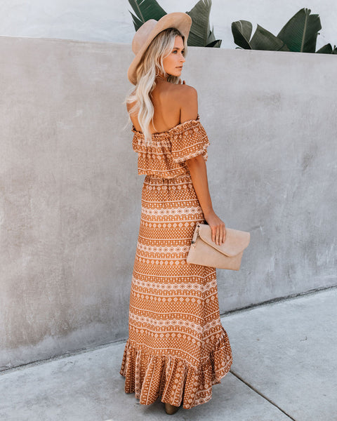 Cairo High Low Off The Shoulder Dress