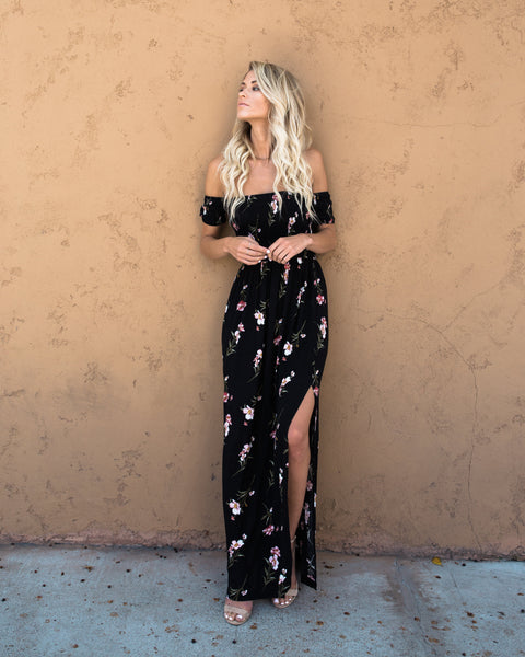 Sweetest Charm Ruched Maxi Dress