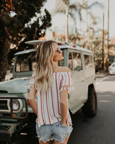 Tenerife Off The Shoulder Top