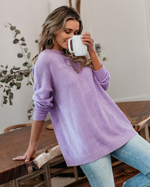 California Girls Knit Sweater - Lavender - FINAL SALE