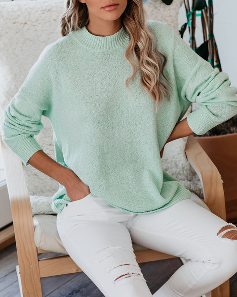 California Girls Knit Sweater - Seafoam - FINAL SALE