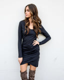 Swift Cotton Dress - Black