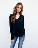 Lorie Blouse - Black - FINAL SALE