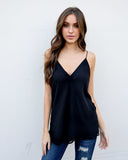 Must Be Nice Cami Tank - Black