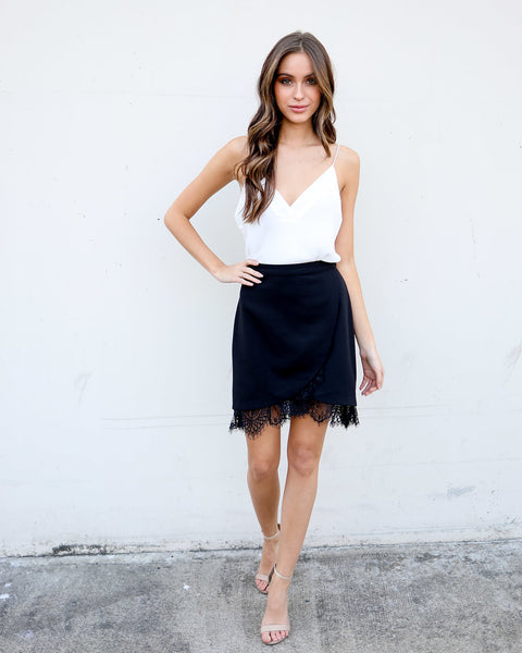 Double Take Lace Skirt