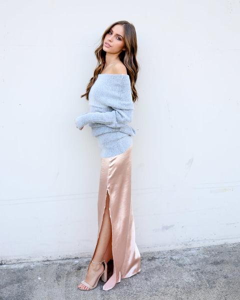 Sippin' Champagne Maxi Skirt