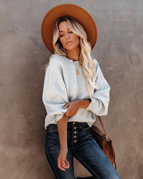 Campfire Knit Sweater - Heather Grey