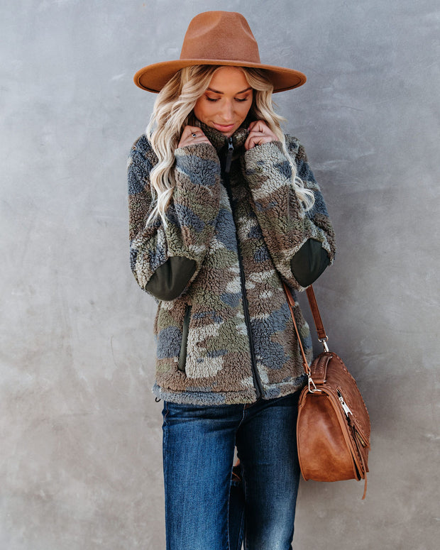 Can't Hide Your Love Pocketed Sherpa Jacket