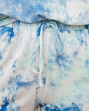 Cape Town Pocketed Tie Dye Knit Shorts