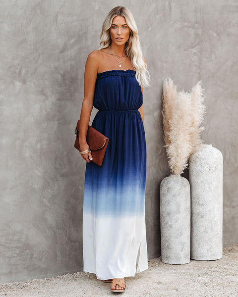 Capitola Strapless Ombre Maxi Dress