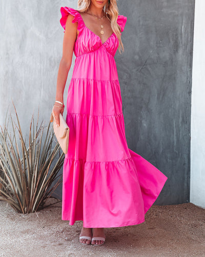 Caprice Tiered Ruffle Maxi Dress