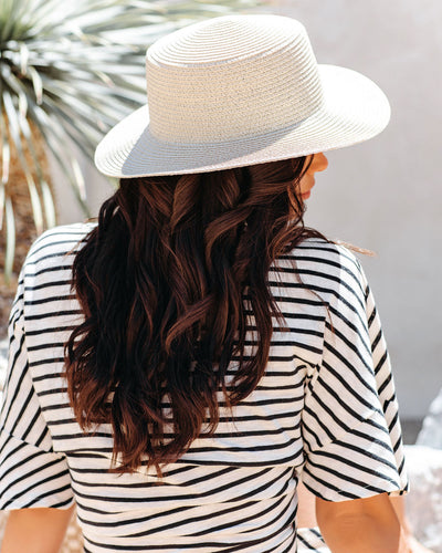 Capri Straw Boater Hat