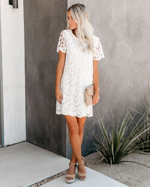 ce30596f90ea7 Capture Memories Crochet Lace Shift Dress - Off White – VICI