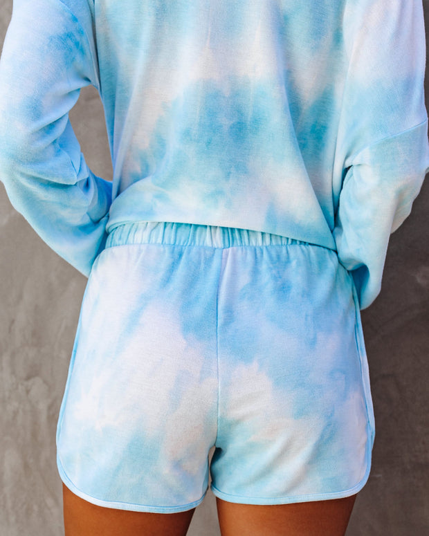 Caribbean Pocketed Tie Dye Knit Shorts