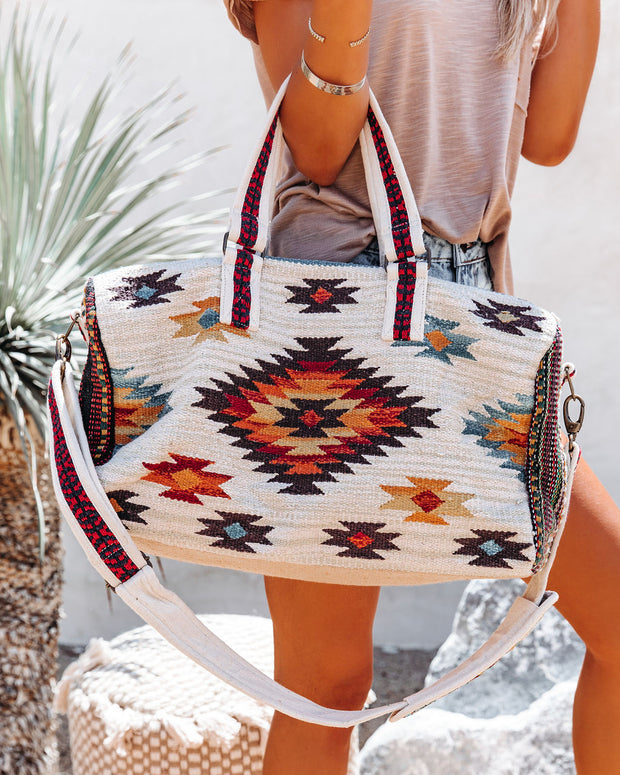 Carlyle Cotton Woven Weekender Bag view 2